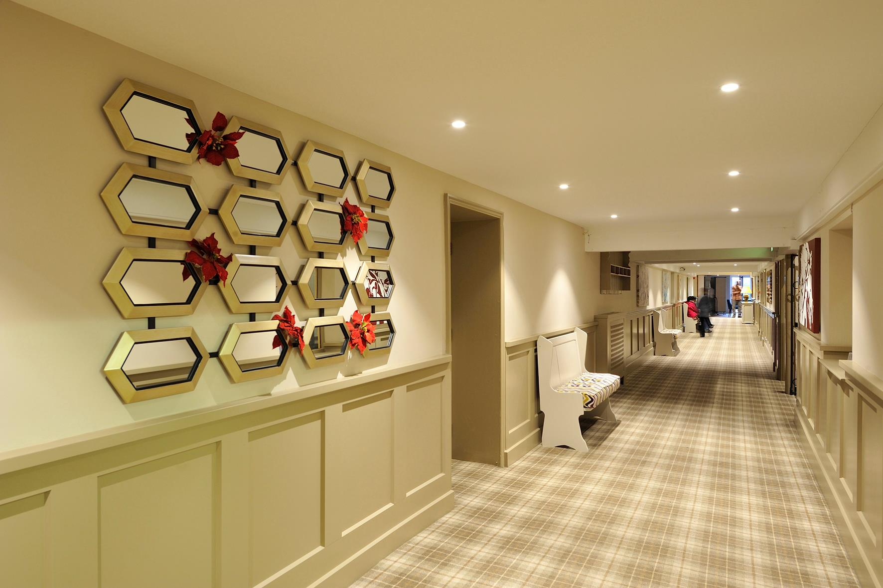 Upstairs Hotel Floor Plan